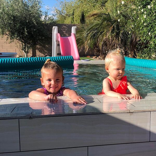 Sisters Swim In Presidential Pool