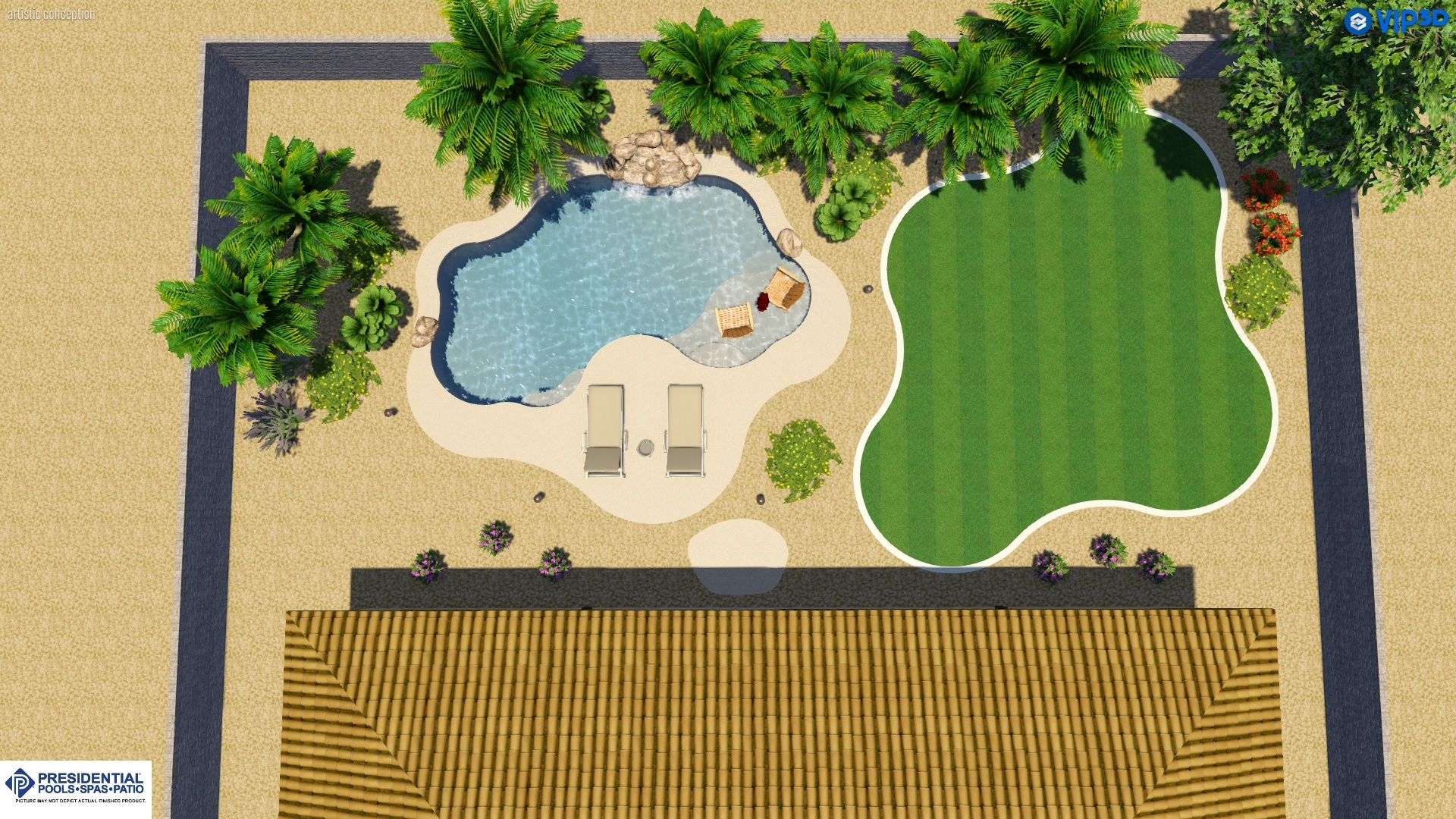 Arizona Swimming Pool Layout