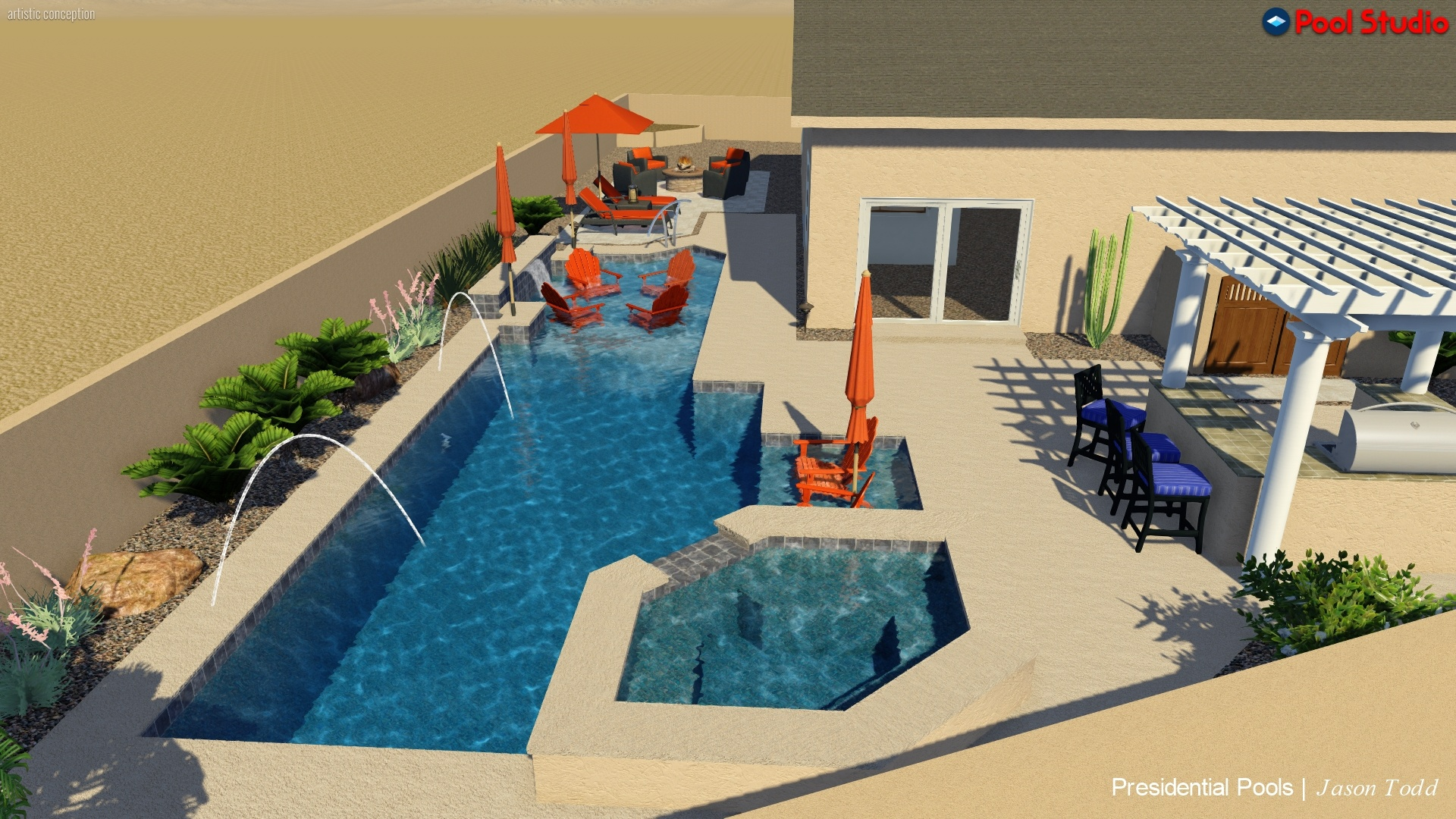 Tucson Swimming Pool Design Baja Decks