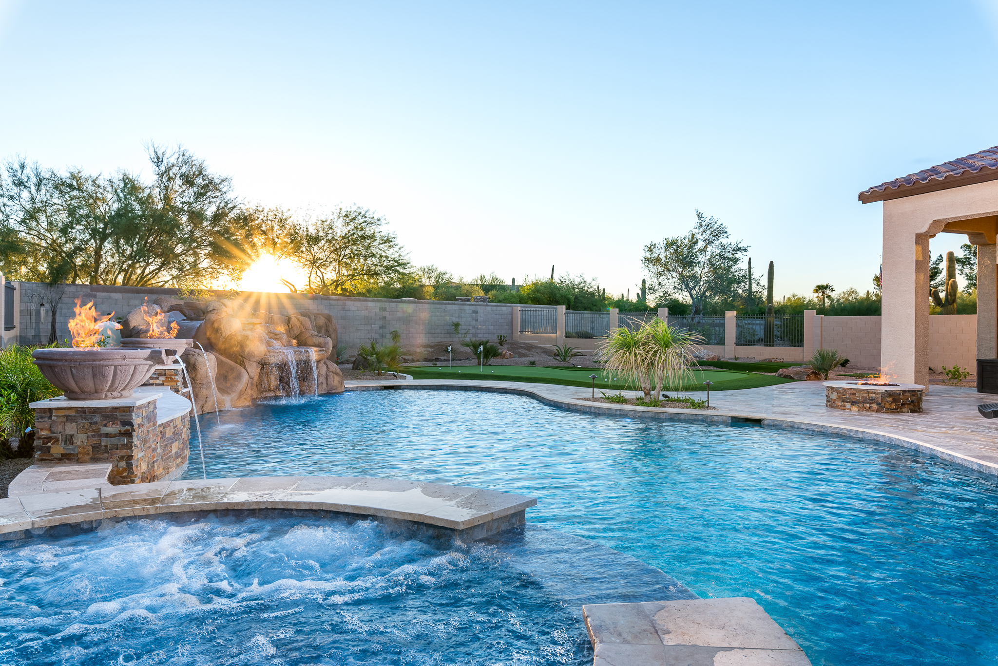 Mesa Swimming Pool Design Presidential Pools Karin Tierney with Spa Fire Features and Waterfall with Slide