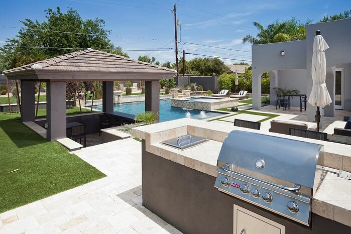 Swimming Pool Outdoor Grill