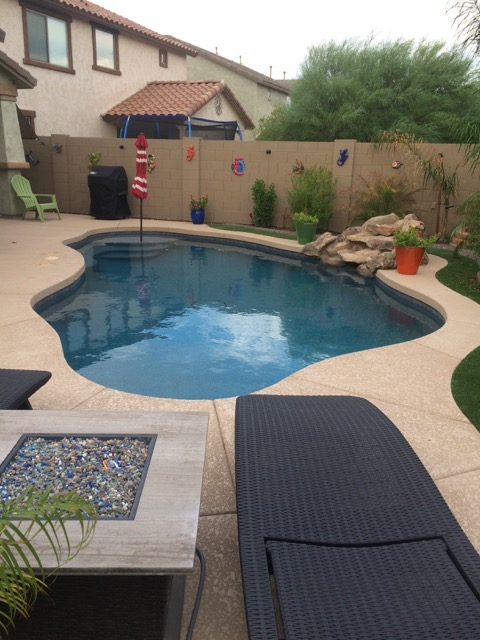 POOL BUILD HIGHLIGHT: THE AMEND FAMILY OF PEORIA, AZ