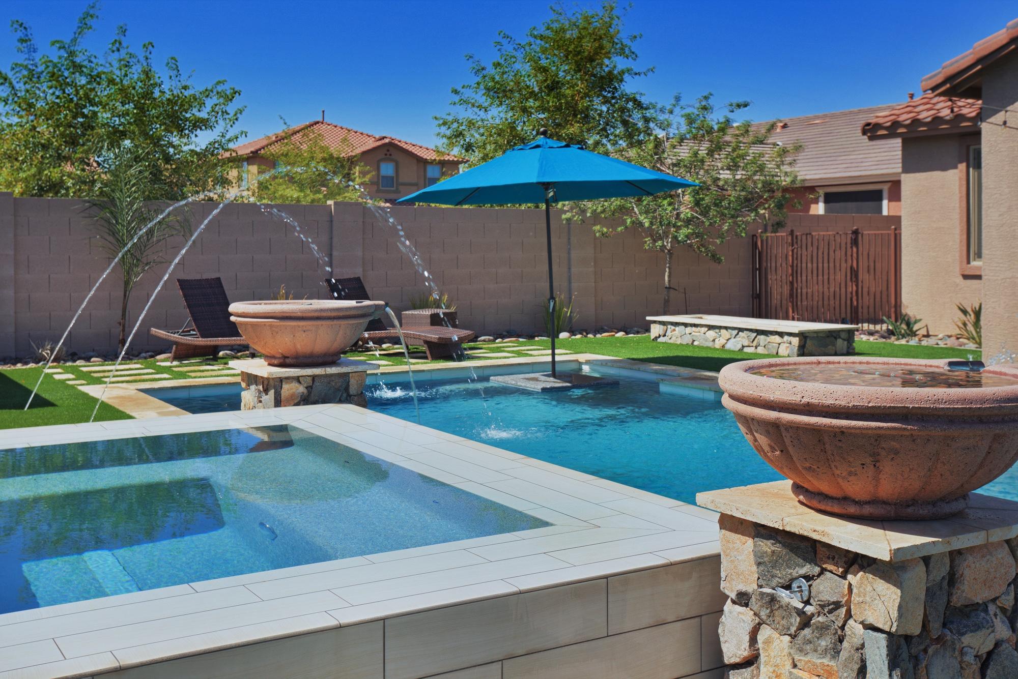 A Swimming Pool Designer's Backyard