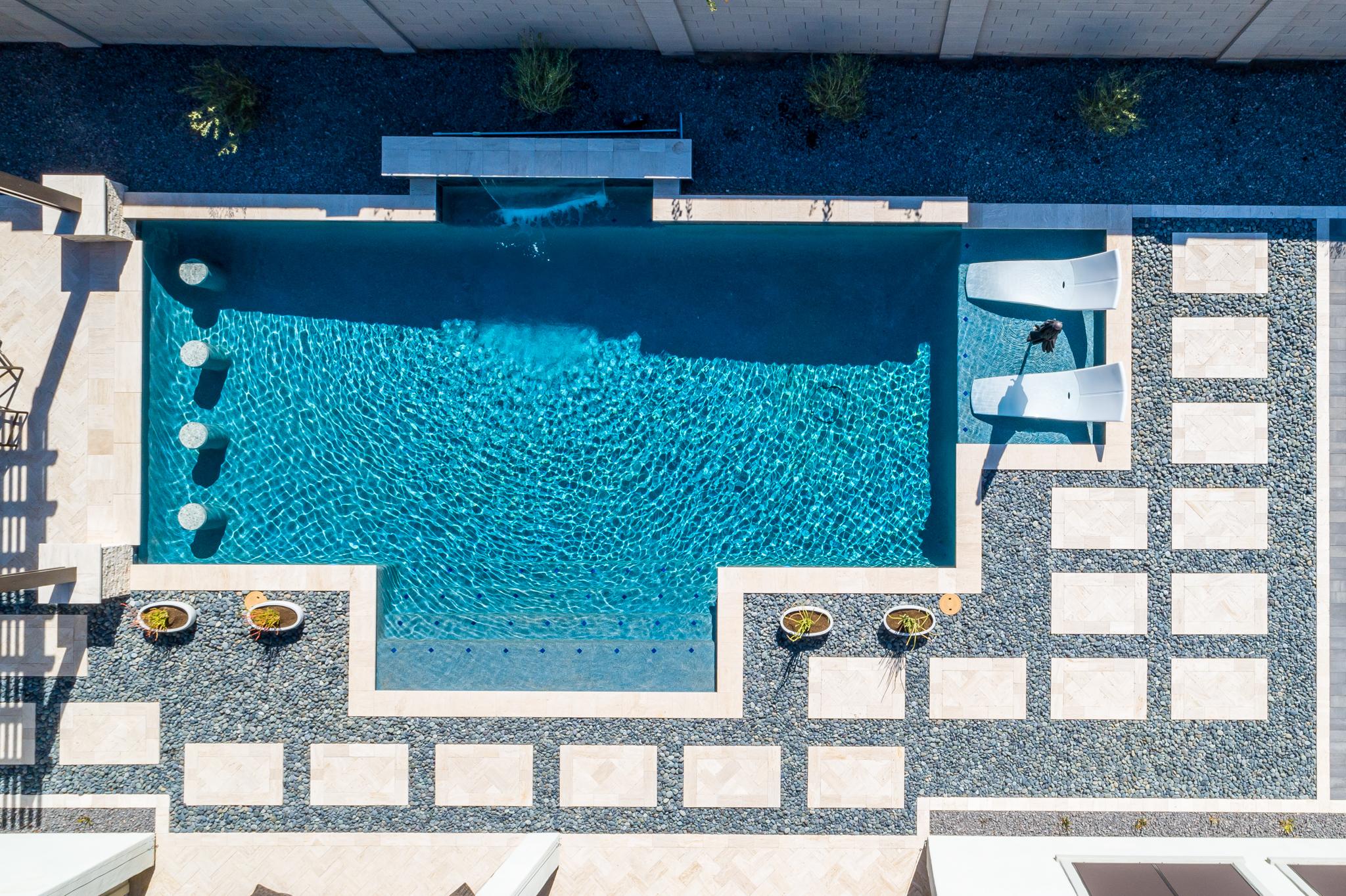 Pool Design Spotlight: Bold, Beautiful Backyard Symmetry