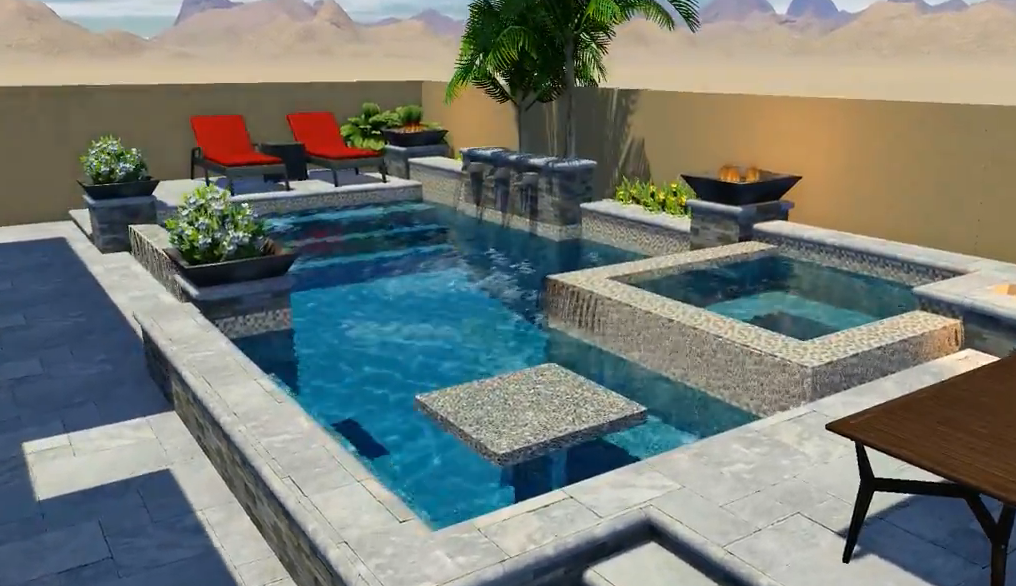 Pool Design Spotlight: A Compact Oasis